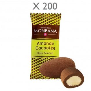 BOITE AMANDES CHOCOLAT LAIT MONBANA 3G X 200